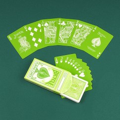 Carte Poker Fashion Verdi Bicycle