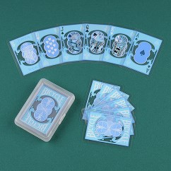 Carte Poker Bicycle Clear  Azzurre