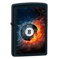 Zippo 8-ball Fire and water