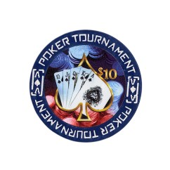 Tournament Poker Fiches Clay - $ 10