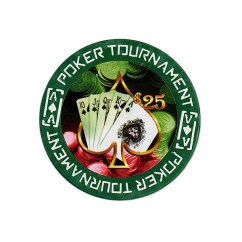 Tournament Poker Fiches Clay - $ 25