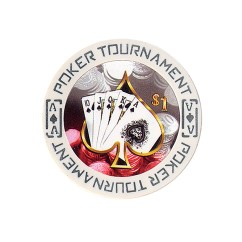 Tournament Poker Fiches Clay - $ 1
